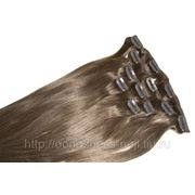 """Волосы натур. на зажимах""""999» 60 см. №08 фото"""