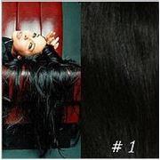 Славянские волосы на капсулах 50-55 см (1-насыщенный черный) фото