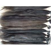 Украинские волосы 50 см на капсулах славянка русый №8 фото
