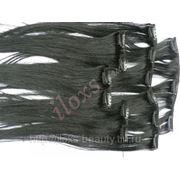Волосы натуральные набор из 7 прядей фото