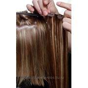 Натуральные славянские волосы на заколках набор 70 см фото