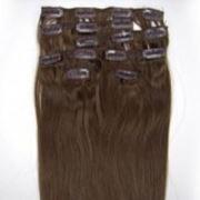 Азиатские волосы на заколках 60 см Светло каштановый фото