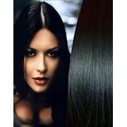 Славянские волосы 50см на капсулах Черный фото