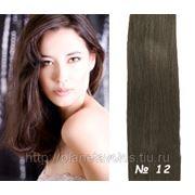 Славянские волосы Hair Talk (One Touch) Набор 40 прядей. Длина 60 см. Пепельный брюнет — №12 фото