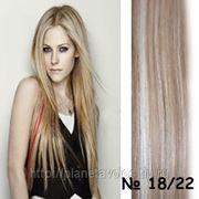 Славянские волосы. 100 прядей. Длина 65 см. Оттенок -светло-коричневый/ блонд — оттенок18/22 фото