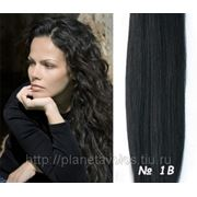 Славянские волосы. 100 прядей. Длина 50 см. Оттенок Натуральный черный — оттенок №1b фото