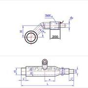 Тройниковое ответвление с переходом стальное в оцинкованной трубе-оболочке с металлической заглушкой изоляции и торцевым выводом кабеля d2=32 мм, D2=100; 125; 140 мм
