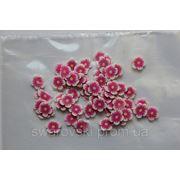Фимо нарезка цветы розовые(50шт).№52 фото