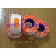 Этикет-лента 26-16 оранжевая волна