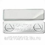 Магнитный держатель для бейджа 44х13мм. (металл) фото