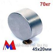 Неодимовый магнит Д-45х20 фото