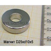 Неодимовое кольцо D25xd10x5 мм. фото