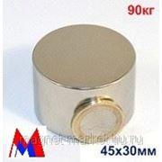 Неодимовый магнит Д-45х30 фото