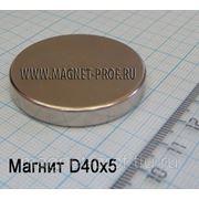 Неодимовый магнит 40х5мм. фото