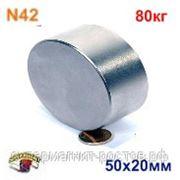Неодимовый магнит Д-50х20 фото