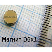 Магнит для сувениров 6х1 мм.