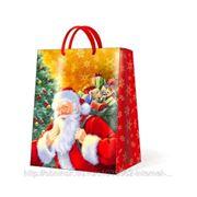 "Paw SMILING SANTA CLAUS Пакет подарочный ""Улыбающийся Санта"", 26,3x33x13,5см"