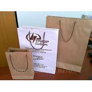 Пакеты бумажные с логотипом фото