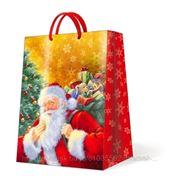 "Paw SMILING SANTA CLAUS Пакет подарочный ""Улыбающийся Санта"", 30x41x12см"
