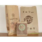 Бумажные пакеты для фаст фуда, хлеба, выпечки крафт фото