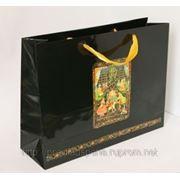 Пакет подарочный большой горизонтальный с атласной лентой, Щелкунчик,40х30 см, РАСПРОДАЖА!!! фото