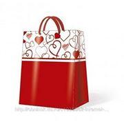"Paw LOVELY HEARTS Пакет подарочный ""Сердечки"", 26,3x33x13,5см"