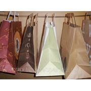 Пакеты бумажные крафт с логотипом фото