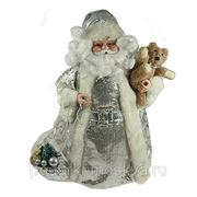 "Игрушка новогодняя ""Санта Клаус"" серебро 41см 74879 фото"
