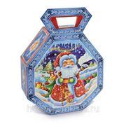 Сладкий новогодний подарок Фото рамка Дед Мороз, 450 г