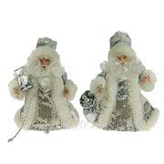 """Игрушка новогодняя """"Санта Клаус"""" цвет серебро 15см 74878 фото"""