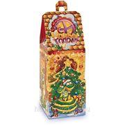 Сладкий новогодний подарок Домик со змейками, 500 г