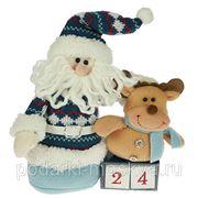 "Новогодний сувенир ""Дед Мороз с календарем"" 23см 175781 фото"