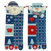 """Новогодний сувенир """"Дед Мороз/Снеговик-календарь"""" 74см 175790 фото"""