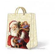 Paw Пакет подарочный Санта с игрушками 26,5х13х33,5 см