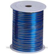 RL Лента 5мм x 250у Синяя с золотой полосой(Москва) А0536 фото