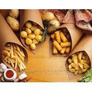 Пакет крафт для картофеля фри фото