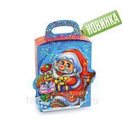 Сладкий новогодний подарок Дед Мороз с подарками, 700 г фото