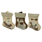 """Новогодний сувенир """"Носок для подарков"""" 20см 275711 фото"""