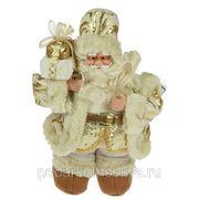 """Игрушка новогодняя """"Санта Клаус"""" цвет золото 30см 74893 фото"""