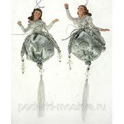 """Игрушка новогодняя """"Волшебница на шаре"""" цвет серебро 15см 74883 фото"""