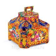 Сладкий новогодний подарок Чайная шкатулочка Алладина, 1300 г фото