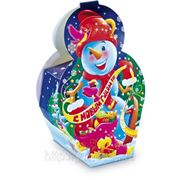 Сладкий новогодний подарок Снеговик, 500 г фото