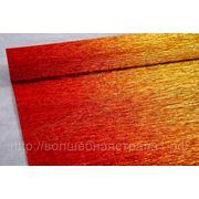 Бумага гофрированная металл-переход 801/1 золото/красный фото