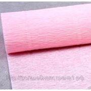 Креп-бумага гофрированная (569) бело-розовый фото