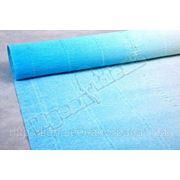 Бумага гофрированная простая-переход 600/2 белый/голубой. 180 гр. фото