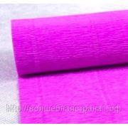 Креп - бумага простая 590 ярко-сиреневый, 180 гр. фото