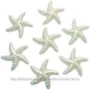 Q Декоративные бусины Морские звезды перламутр 2,3х1,8см 20шт фото