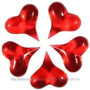 Q Декор Сердечки красные 3,4x3,4см 5шт фото