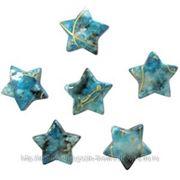 Q Декоративные бусины Звезды бирюзовые 2.3х1.8см 20шт фото