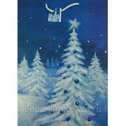 Пакет бум./ламинир. с отделкой Новогодний 32*45*10см 206cjl-XL фото